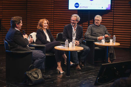 """Lors du débat """"Vaccins, homéopathie, etc : Existe-t-il une vérité scientifique ?"""" le 6 octobre lors de l'édition 2018 de """"Le Monde Festival"""" à l'Opera Bastille à Paris."""