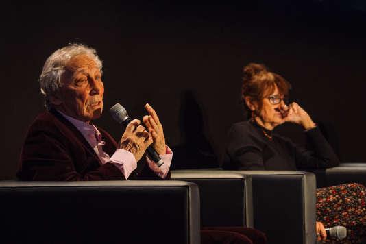 Débat sur les origines de #metoo avec Arlette Farge, Georges Vigarello et Zineb Dyref lors du Monde Festival, au Palais Garnier le 7 octobre.