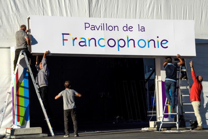 Préparatifs avant le dix-huitième Sommet de la francophonie, qui s'est tenu les 11 et12octobre 2018 à Erevan, en Arménie.