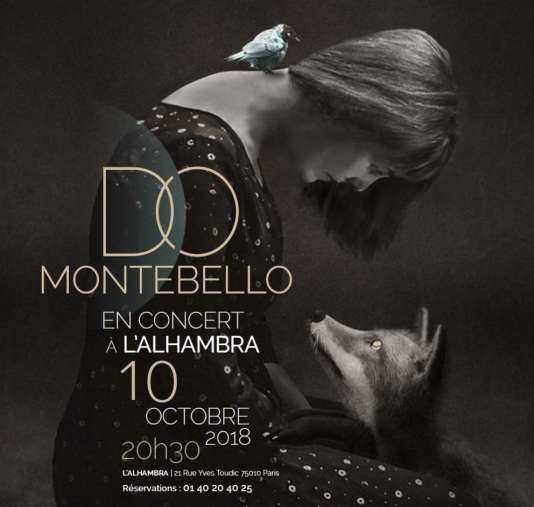 La chanteuse Do Montebello en concert à l'Alhambra, à Paris.