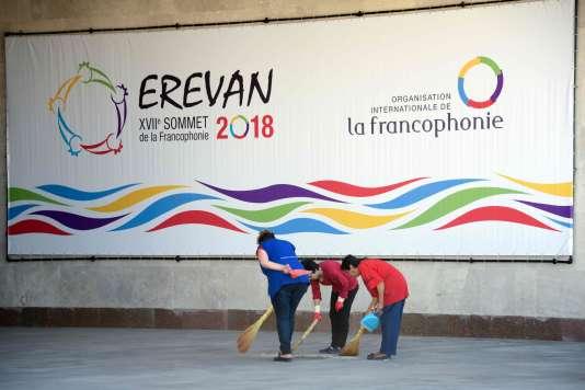 « La francophonie a encore du mal à sortir des clichés et des procès d'intention liés au passé colonial de la France. » (Photo: Erevan, le 6 octobre.)