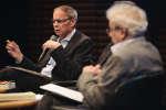"""Jean Tirole durant la conférence """"L'économie peut-elle faire le bien commun"""", le 7 octobre lors de l'édition 2018 de """"Le Monde Festival"""" au à l'Opera Bastille à Paris. Lucas Barioulet pour Le Monde"""