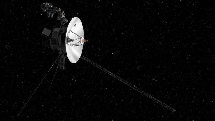 Vue d'artiste de la sonde spatiale Voyager 2 de la NASA.