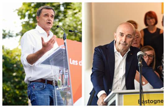 De gauche à droite : Benoît Lutgen (48 ans) et Jean-Pierre Lutgen (53 ans), tous deux candidats aux municipales en Wallonie.