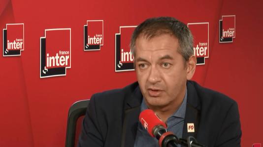 Le secrétaire général de Force ouvrière, Pascal Pavageau, était l'invité de France Inter, lundi 8 octobre.