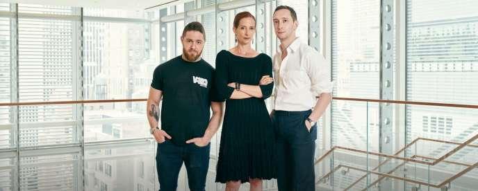 Jacob Bernstein, Vanessa Friedman et Matthew Schneier, journalistes de la rubrique style du «New York Times».