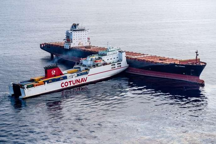 Les deux navires se sont percutés à environ 28km au nord-ouest du cap Corse.