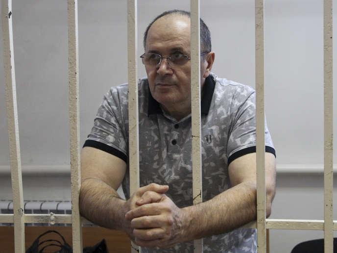 Oïoub Titiev, en détention en septembre 2018.