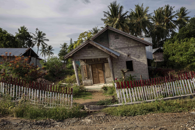 Une maison de la municipalité de Sigi située à quelques kilomètres au sud de Palu.