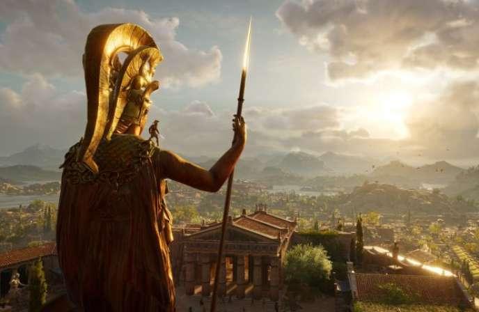 Alexios en armure, face aux terres du Péloponnèse.