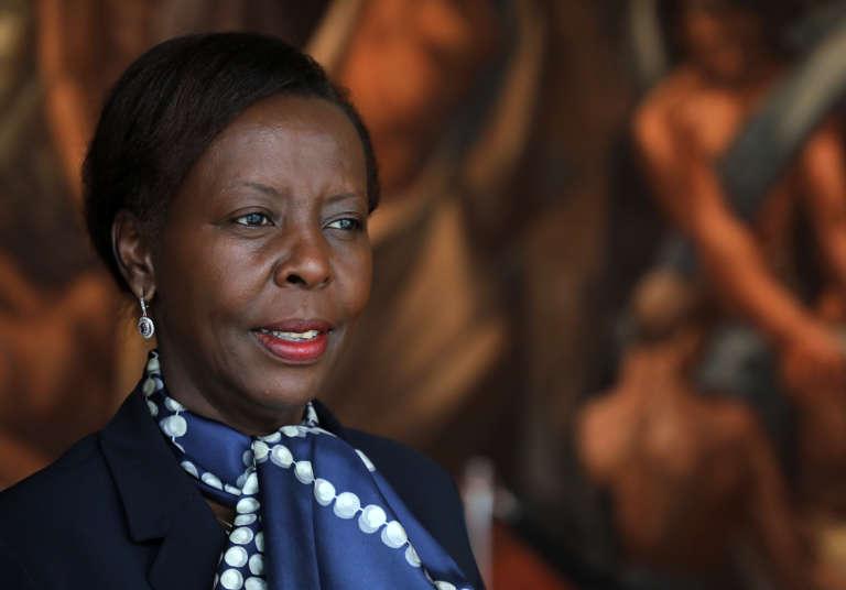 La ministre rwandaise des affaires étrangères, Louise Mushikiwabo, à New York, le 25septembre.