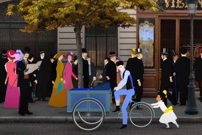 Une scène du film français d'animation de Michel Ocelot,« Dilili à Paris».