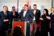 Milorad Dodik, lors d'une conférence de presse, le 7 octobre à Banja Luka.