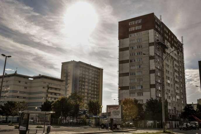 Ensemble d'habitations à loyer modéré (HLM), à Calais, en septembre 2017.