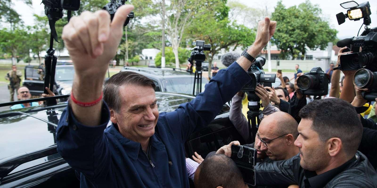 Jair Bolsonaro à Rio, le 7 octobre.
