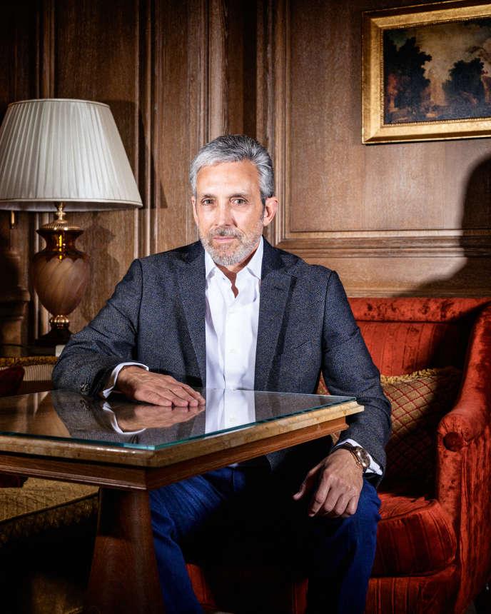 Charles S. Cohen en mai à l'hôtel Ritz, à Paris.