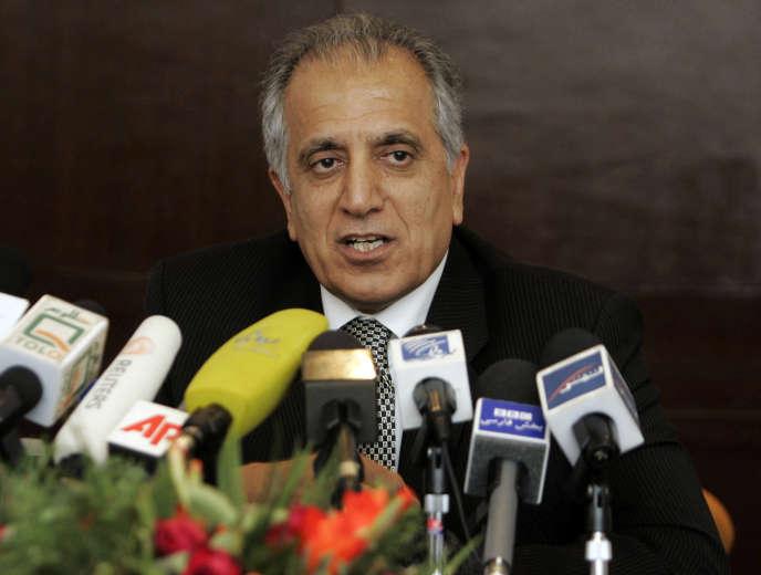 L'émissaire américain pour la paix en Afghanistan, Zalmai Khalilzad, en 2009 à Kaboul.