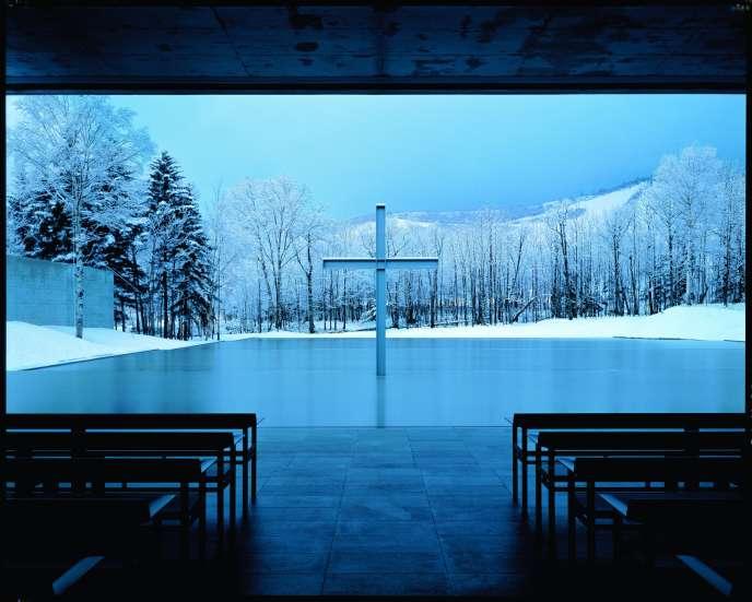 L'Eglise sur l'eau, à Hokkaïdo, conçue par l'architecte Tadao Ando en 1988.