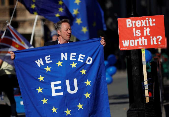 Manifestation anti-Brexit, le 9octobre à Londres.