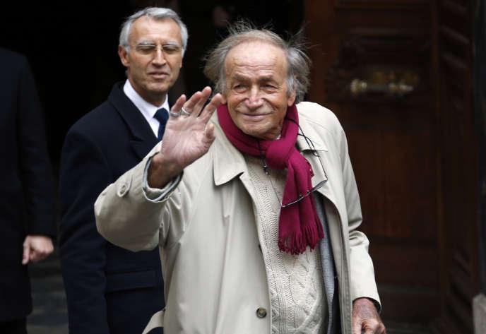 L'acteur italien Venantino Venantini aux obsèques de Georges Lautner, à Nice, en 2013.