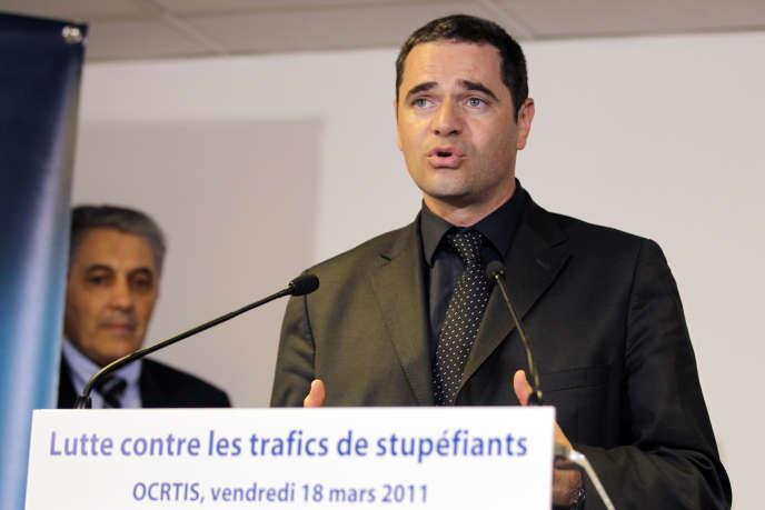 Francois Thierry, alors responsable de l'Office central pour la répression du trafic illicite de stupéfiants, le 18 mars 2011, à Nanterre.