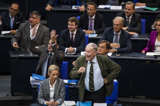 Alexander Gauland, lors d'une prise de parole au Bundestag, le 12 septembre 2018.