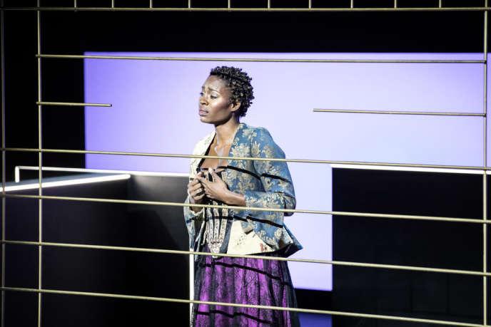 Jeanine De Bique dans« Rodelinda», de Haendel, dans une mise en scène de Jean Bellorini à l'Opéra de Lille.