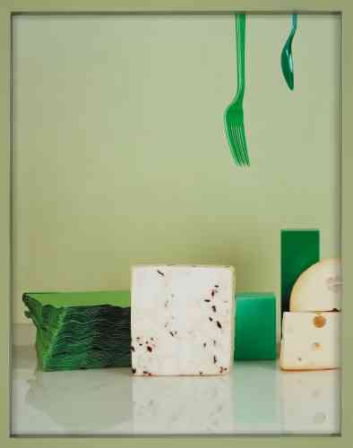 « Truffle goat cheese, Emmentaler, fork and spoon», 2010.