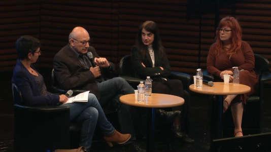 Raja Chatila,Lola Cañamero etVéronique Aubergé débattent de des robots intelligents dans le cadre du Monde Festival 2018.