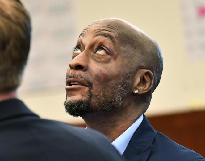 Dewayne Johnson, le jardinier qui a attaqué en justice le géant agro-chimique Monsanto, le 9 juillet à San Francisco (Californie).