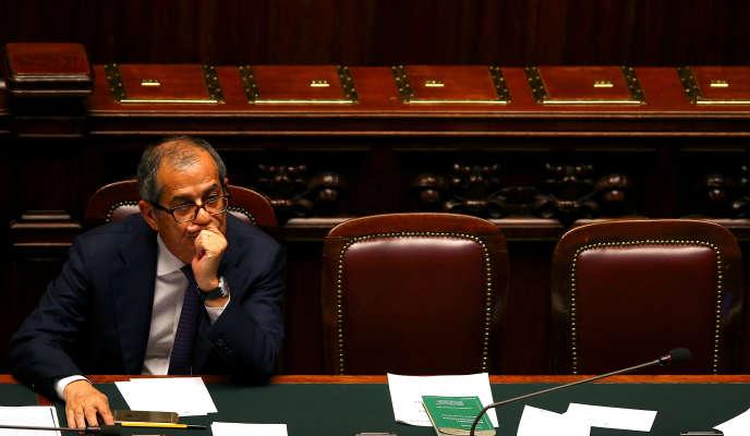 Le ministre italien de l'économie et des finances,Giovanni Tria, à Rome, le 6 juin 2018.