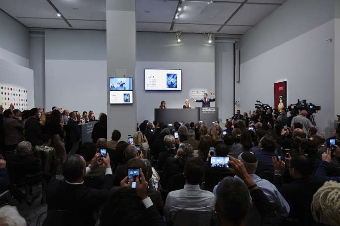 Vente aux enchères de montres de collection chez Phillips, à New York, en 2017.