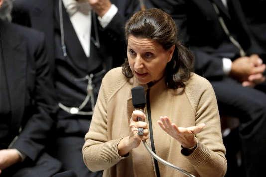 La ministre de la santé, Agnès Buzyn, le 3 octobre à l'Assemblée nationale.