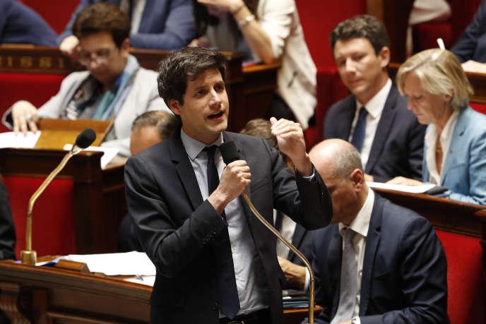 Le secrétaire d'Etat à la cohésion des territoires, Julien Denormandie, le 30 mai 2018 à l'Assemblée nationale.
