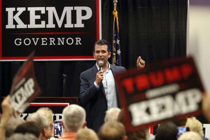 Brian Kemp, candidat du Parti républicain au poste de gouverneur en Géorgie, àAthens, le 9octobre.