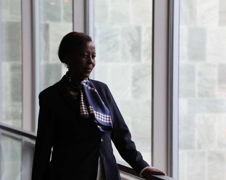 La chef de la diplomatie rwandaise et candidate à la tête de l'OIF, Louise Mushikiwabo, le 25 septembre, à New York.