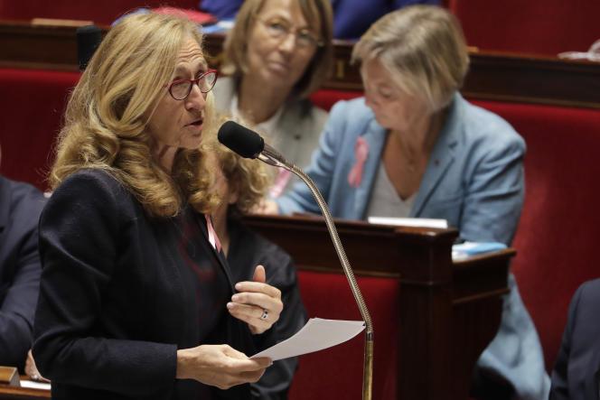 La ministre de la justice, Nicole Belloubet, le 3 octobre 2018 à l'Assemblée nationale.