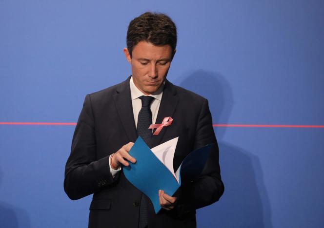 Le porte-parole de la présidence de la République, Benjamin Griveaux, au palais de l'Elysée, le 3 octobre.