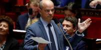 French Education Minister Jean-Michel Blanquer speaks during a session of questions to the Government at the French National Assembly in Paris, on October 10, 2018.  / AFP / FRANCOIS GUILLOT