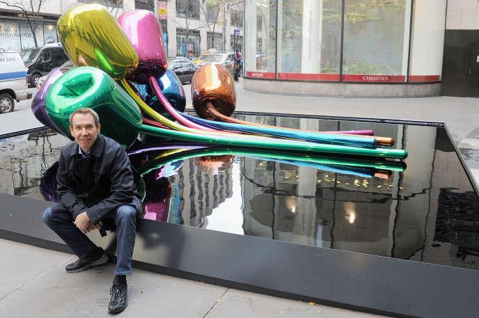 «Les Tulipes» de l'artiste Jeff Koons présentées ennovembre 2012 à New York.