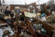 Haley Nelson inspecte les dommages subis par la maison familiale à Panama City, le 10 octobre.