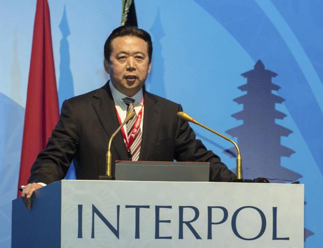 Le président d'Interpol, Meng Hongwei, «disparu» le 25 septembre, ici lors d'une conférence à Bali (Indonésie), en novembre 2016.