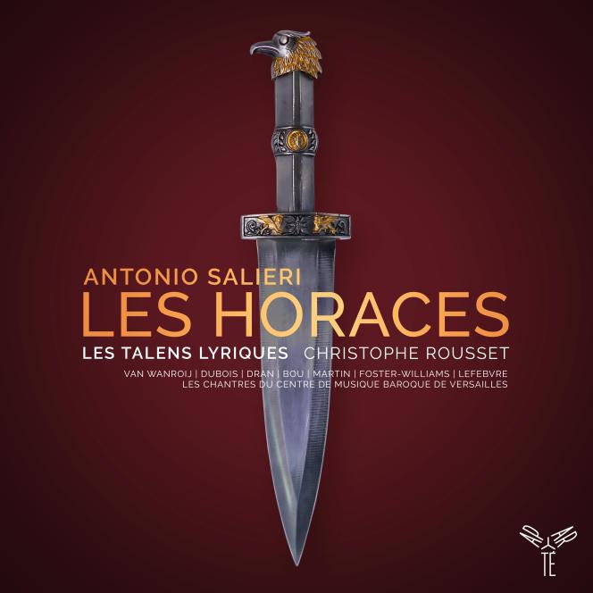 Pochette de l'album« Les Horaces», d'Antonio Salieri, avec Les Chantres du Centre de Musique baroque de Versailles, Les Talens Lyriques, Christophe Rousset (direction).