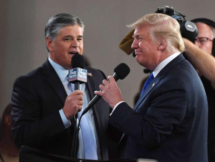 Donald Trump, interviewé par un présentateur de Fox News, à Las Vegas, en septembre 2018.