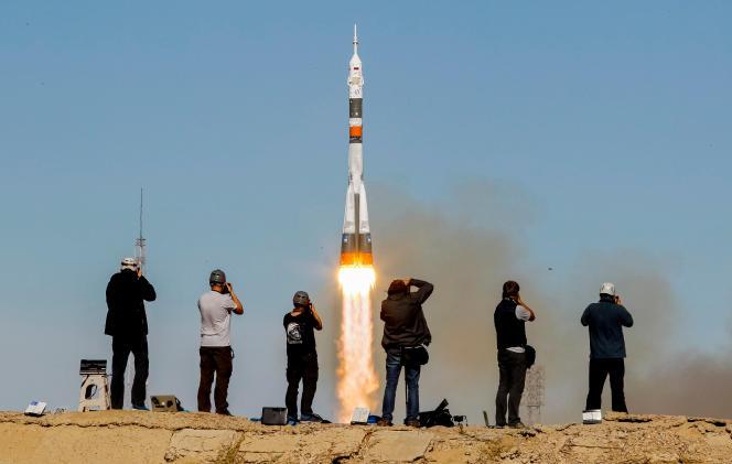 Décollage de «Soyouz MS-10», le 11 octobre, au Kazakhstan.