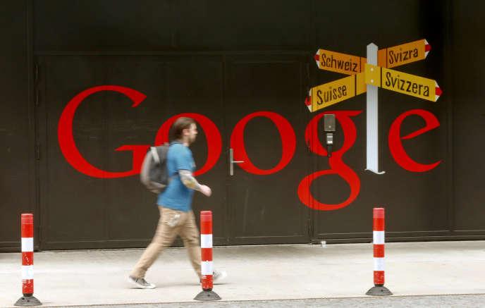 L'entrée du centre européen d'ingénierie de Google de Zürich, le 16 avril 2015. Le géant américain a«une influence décisive sur l'image de Zurich en tant que centre high-tech. Il stimule l'innovation et agit également comme un aimant pour les meilleurs talents eninformatique».