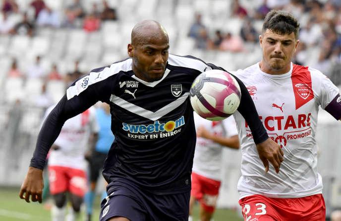 Le joueur des Girondins Jimmy Briand lors du match contre Nîmes, le 16septembre 2018.