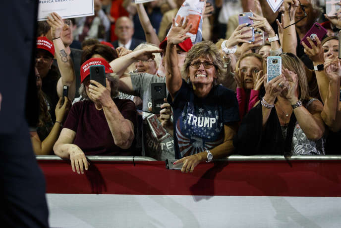 Supporteurs de Donald Trump lors d'un meeting en Pennsylvanie, le 10 octobre.