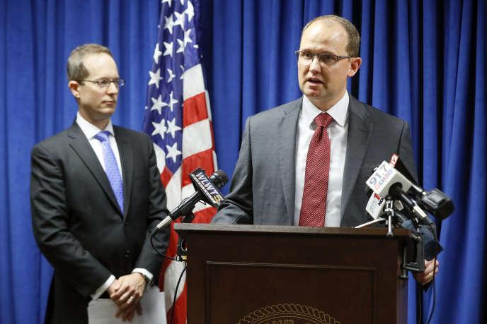 Le FBI donne les détails de l'affaire concernant le Chinois extradé Xu Yanjun, à Cincinnati (Ohio), le 10 octobre.