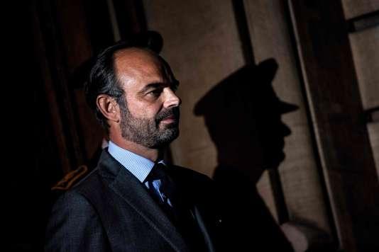 Edouard Philippe, premier ministre et ministre de l'intérieur par intérim, à Lyon, le 8 octobre.